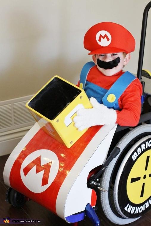 Mario Kart close up, Mario Kart Wheelchair Costume