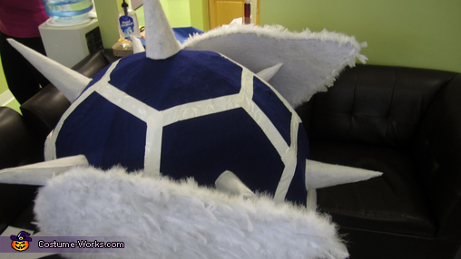 Semi top view, Mario Kart Blue Turtle Shell Costume