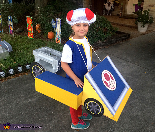 Complete Toad Costume, Mario Kart Shyguy and Toad Costumes