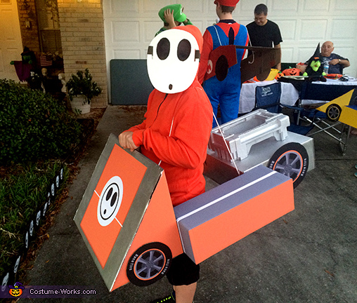 Complete Shyguy Costume, Mario Kart Shyguy and Toad Costumes