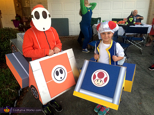 Mario Kart Shyguy and Toad Costumes