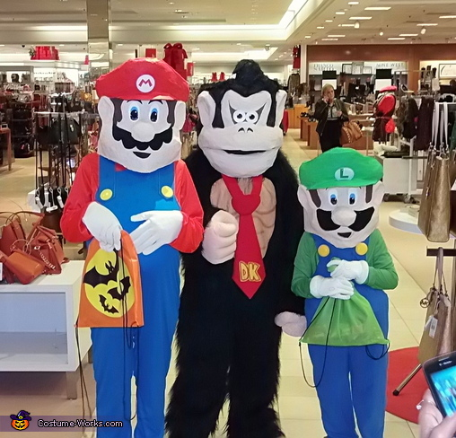 Mario, Luigi, and Donkey Kong Group Costume