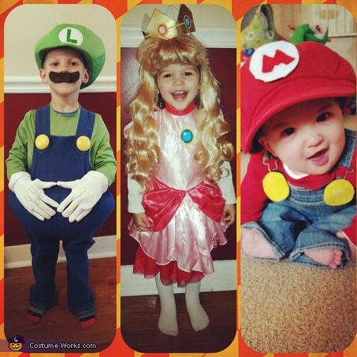 mario, luigi,  and princess peach, Mario, Luigi and Princess Peach Costume