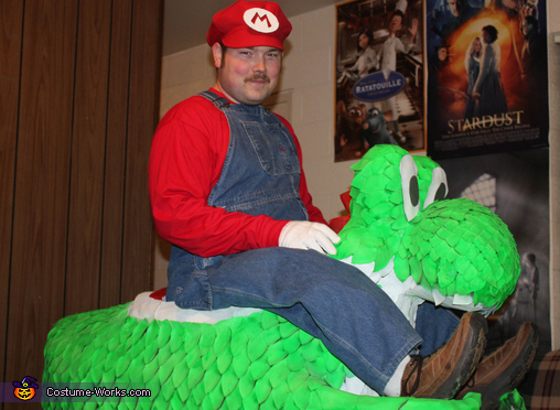 Mario & Yoshi - Homemade costumes for men