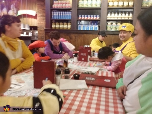 Mario & friends eat at east side Marios, Mario Party Costume