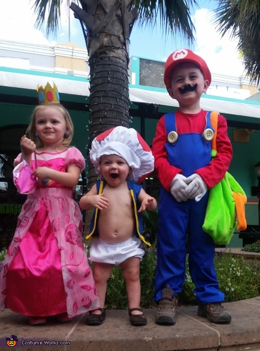 Mario, Princess Peach and Toad Costume