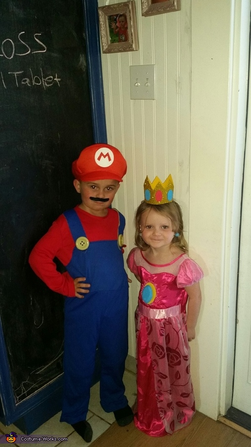 Mario, Princess Peach and Toad Homemade Costume