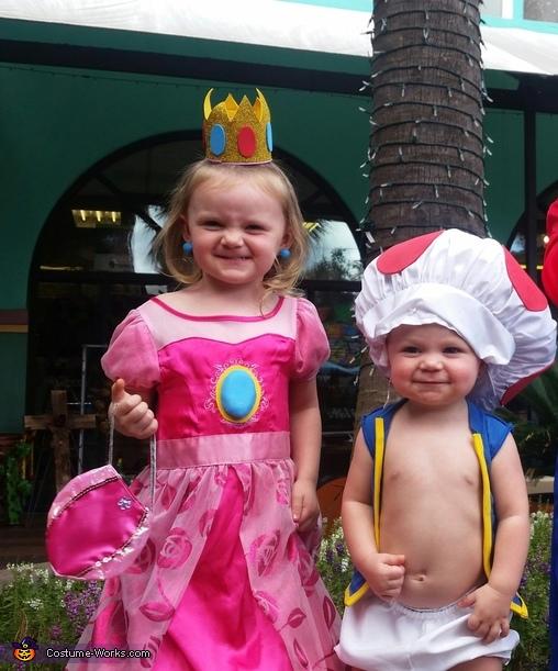 Mario, Princess Peach and Toad Homemade Costume