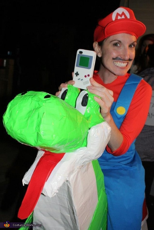 Inspired by my phone's gameboy cover!, Mario Riding Yoshi Costume