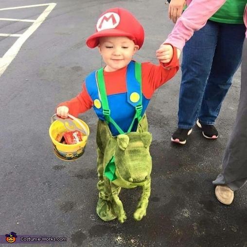 Mario Riding Yoshi Costume