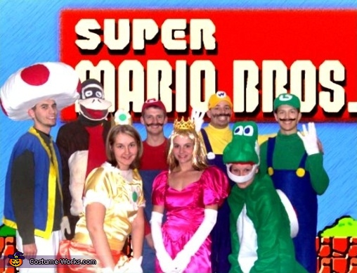 Super Mario Brothers - Homemade costumes for groups