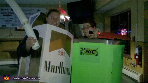 Marlboro Lights & Bic Lighter Costumes