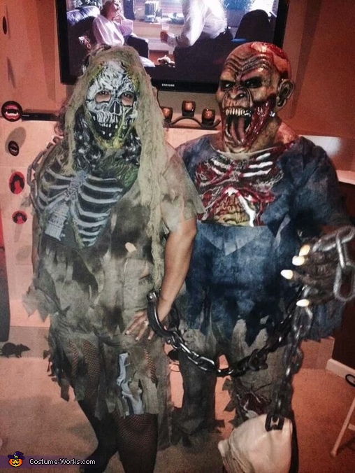 Married Zombie Couple Costume