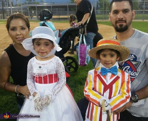 Marry Poppins, Bert, Mom, and Dad, Marry Poppins and Bert Costume