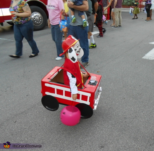 Marshall the Fire Pup from Paw Patrol Homemade Costume