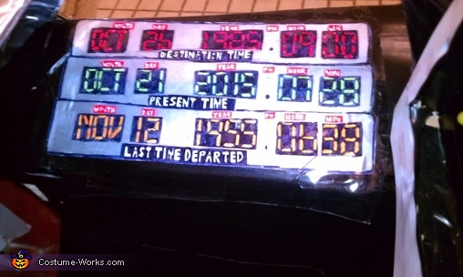 The time circuits., Back to the Future Marty McFly and DeLorean Costume