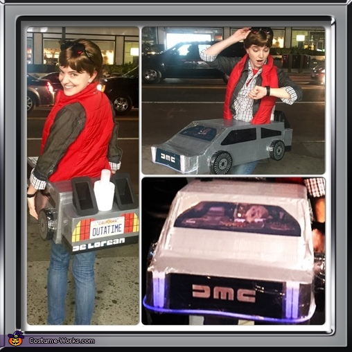 Woah, this is heavy!, Marty Mcfly with Delorean Costume