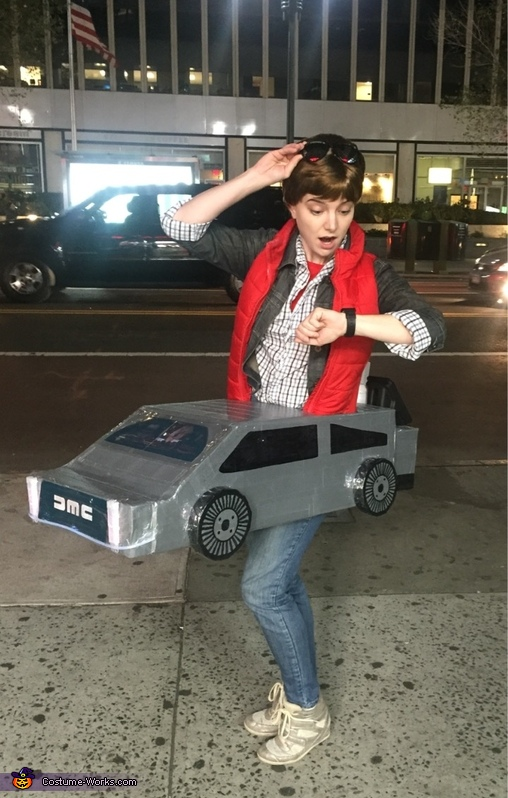Marty Mcfly with Delorean Costume