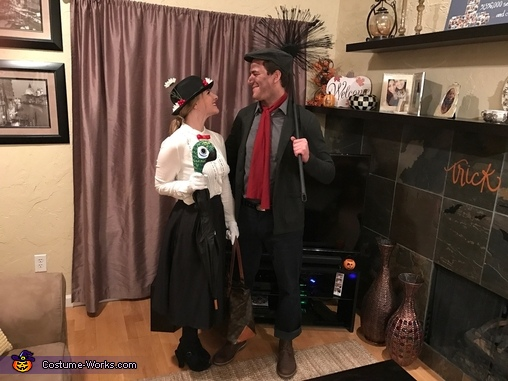 Oh, every day's a holiday with Mary, Mary Poppins and Bert the Chimney Sweep Costume