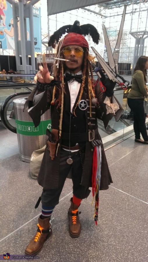 Mashed up Johnny Depp Costume