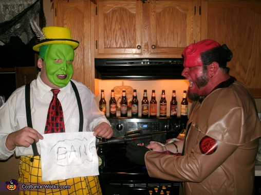 Hellboy hardly made a dent!, The Mask Costume