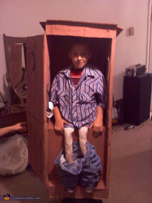 outhouse homemade halloween costume for boys