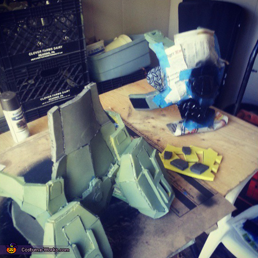 foam pieces, Master Chief Costume
