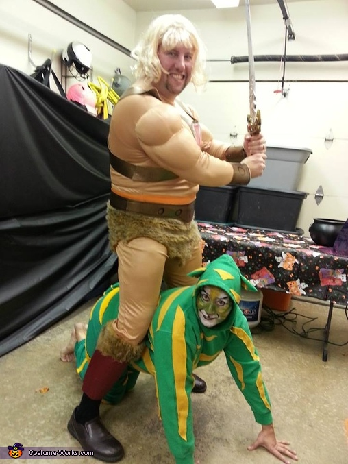 He-man and Cringer, Masters of the Universe Family Costume