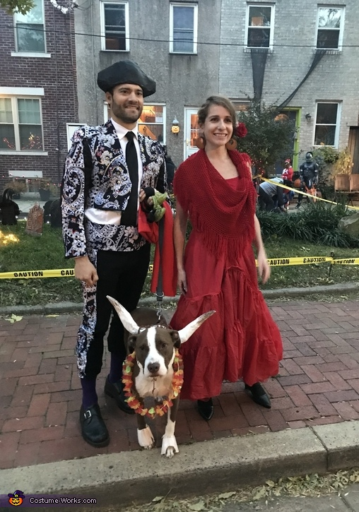 Matador, Bull, and Flamenco Dancer Costume