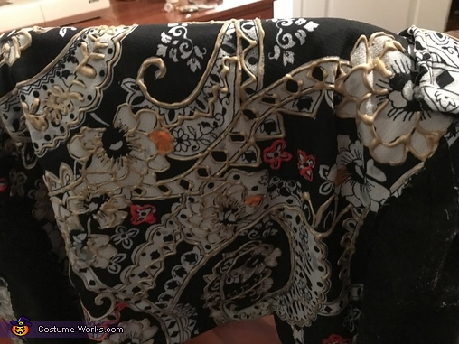 Matador jacket with puffy paint and sequin embellishments, Matador, Bull, and Flamenco Dancer Costume
