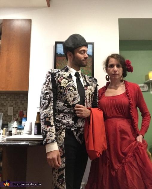 Alternate red flamenco costume, Matador, Bull, and Flamenco Dancer Costume