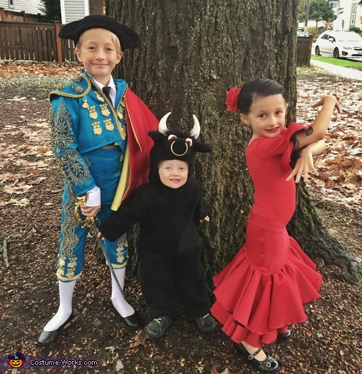 Matador, Bull, & Flamenco Dancer Costume