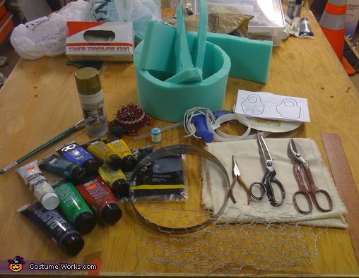 Materials used (not pictured: Sewing machine and iron), DIY Matryoshka Costume