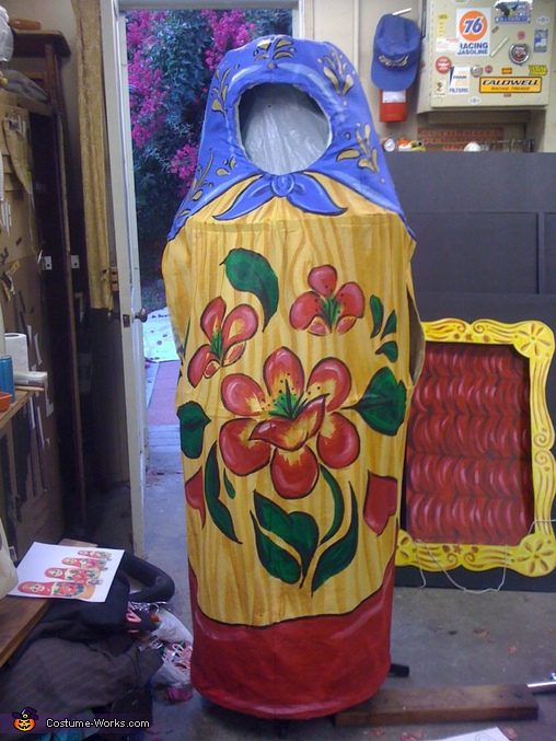 Finished project front view, DIY Matryoshka Costume