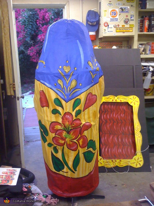 Finished project back view, DIY Matryoshka Costume
