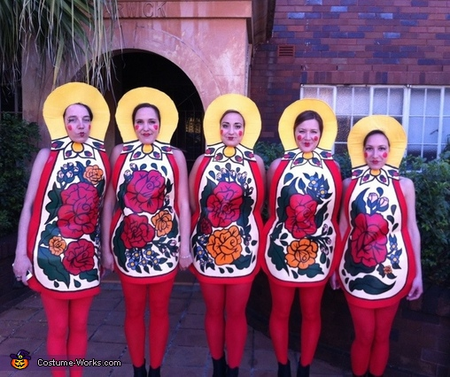 Matryoshka Dolls - Homemade costumes for groups