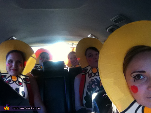 en route to party/ makeup closeup , Matryoshka Dolls Costumes