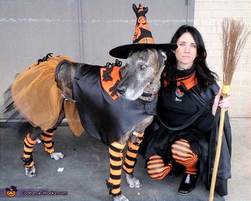 The wind was blowing during this photo shoot and Tobi could not keep her Witch Hat on, Mattie & Tobi Costume