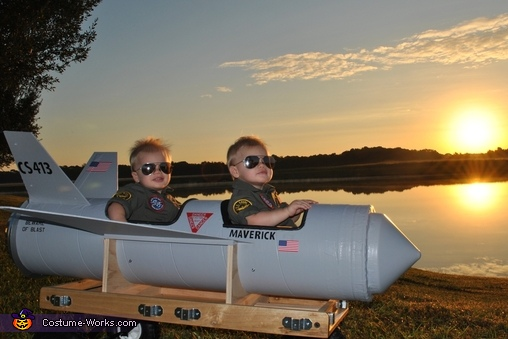 Maverick and Goose Twin Babies Costume