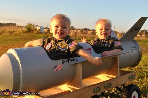 Smiley Maverick and Goose, Maverick and Goose Twin Babies Costume