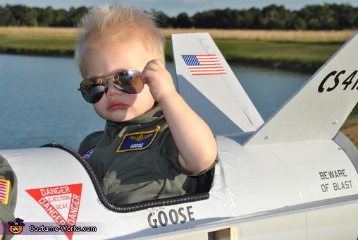 Too Cool Goose, Maverick and Goose Twin Babies Costume