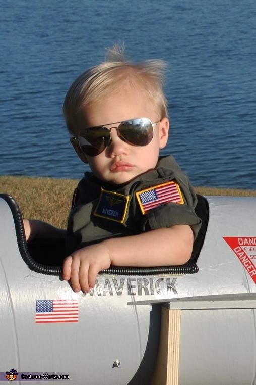 Too Cool Maverick, Maverick and Goose Twin Babies Costume