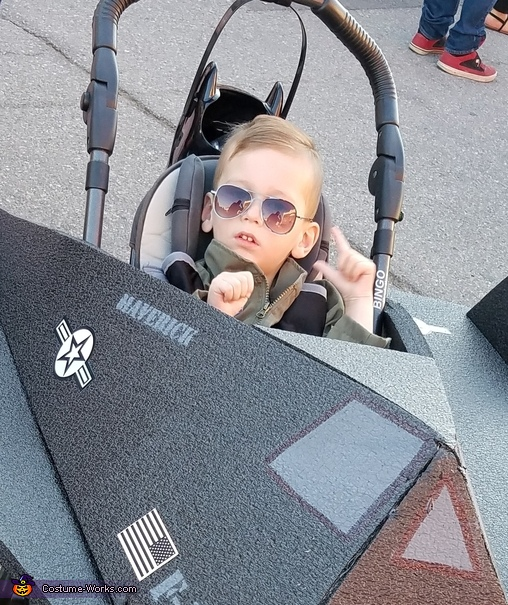 Maverick and the Stealth Fighter Homemade Costume