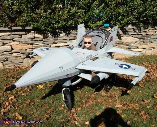 Maverick in his Jet Costume