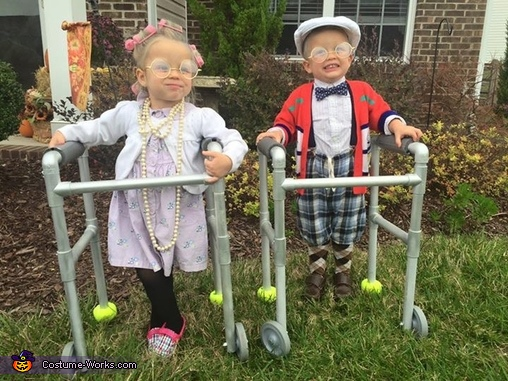 Mawmaw and Pawpaw Homemade Costume