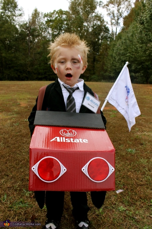 Mayhem, the Allstate Guy Costume