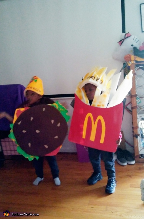 McDonald Fries and Cheeseburger Costume