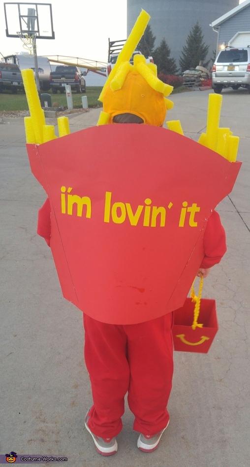McDonalds Fries Homemade Costume