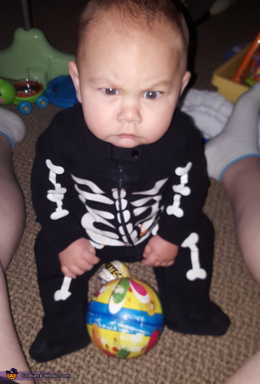 Mean Skeleton Baby Costume
