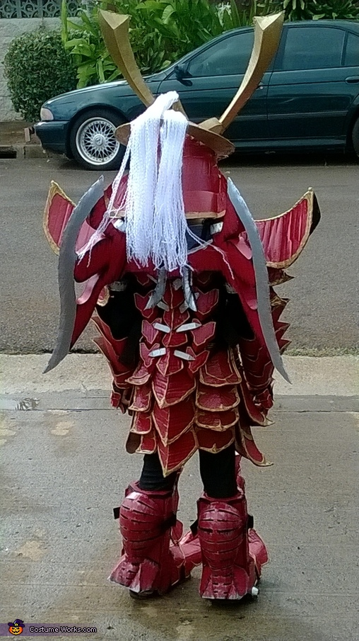 My dragon tails, Mech Samurai Warrior Costume